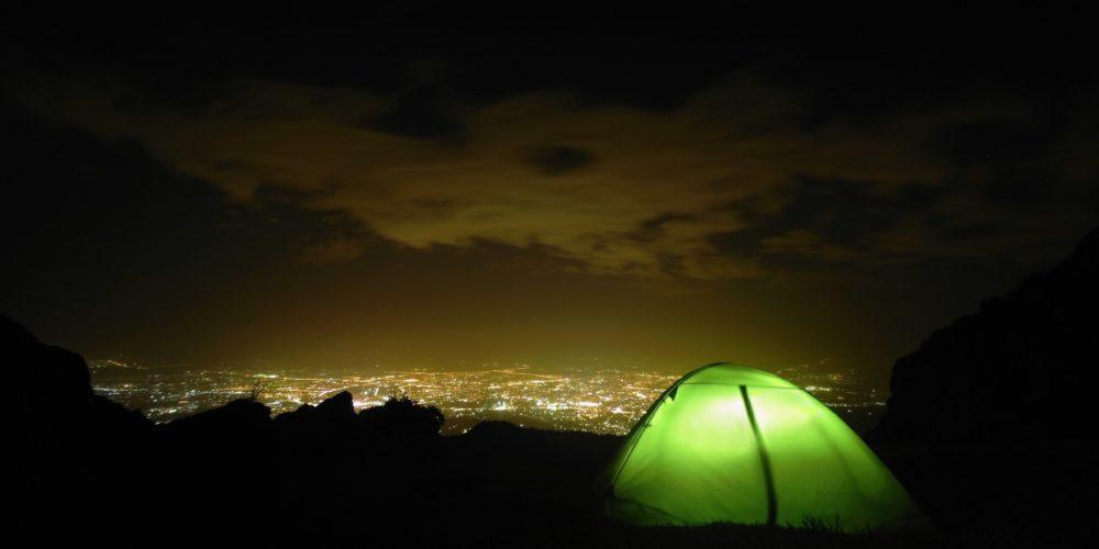Ночной город с Трёх Братьев